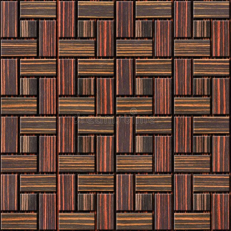 Teste padrão abstrato do paneling - fundo sem emenda - madeira do ébano imagem de stock royalty free