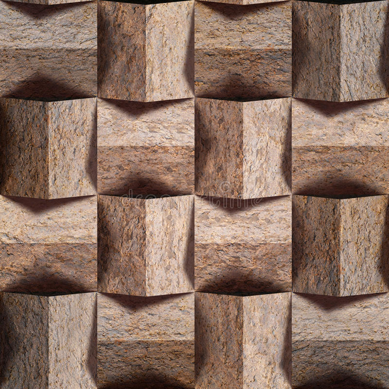 Teste padrão abstrato do paneling - fundo sem emenda - parede de pedra foto de stock royalty free