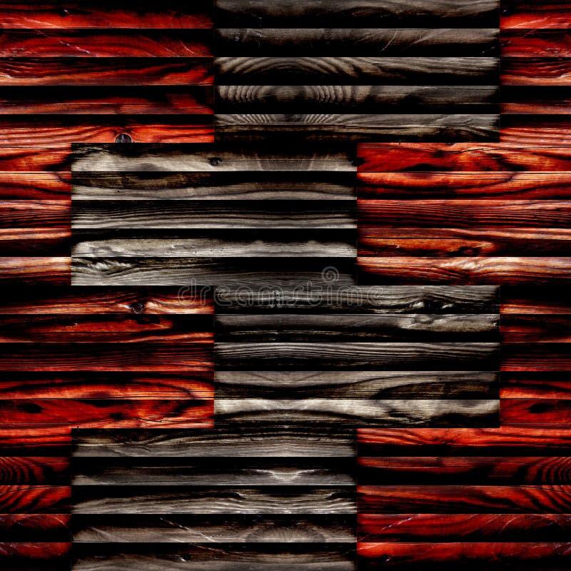 Teste padrão abstrato do paneling - fundo sem emenda - superfície de madeira fotografia de stock