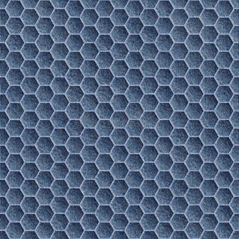 Teste padrão abstrato do paneling - teste padrão sem emenda - calças de brim azuis da sarja de Nimes fotografia de stock royalty free
