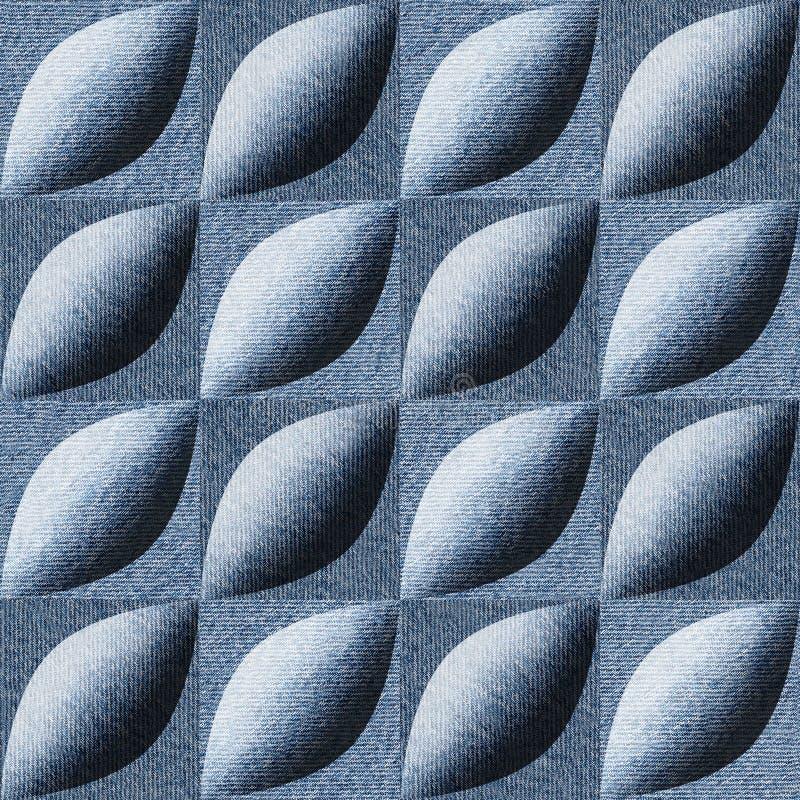 Teste padrão abstrato do paneling - teste padrão sem emenda - sarja de Nimes de calças de ganga fotografia de stock royalty free