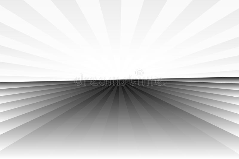 Teste padrão abstrato do sunburst no preto, no cinza, e no branco monocromáticos do inclinação da cor Vector a ilustração, EPS10  ilustração royalty free