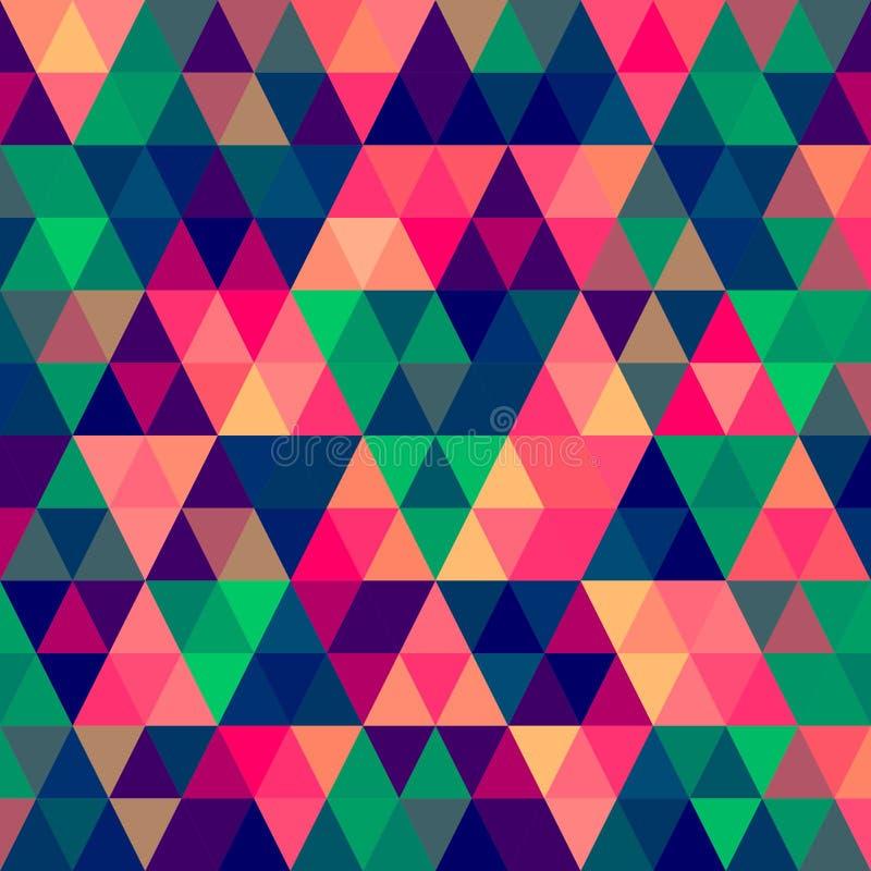 Teste padrão abstrato do triângulo do pixel ilustração do vetor