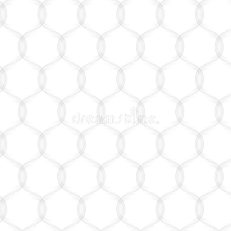 Teste padrão abstrato do vetor sem emenda textura branca Malha do círculo ilustração royalty free