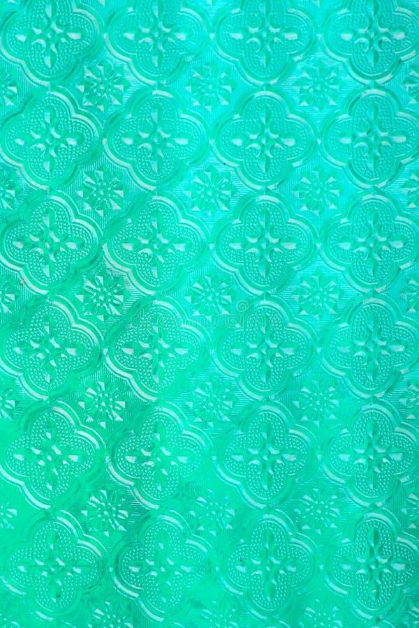 Teste padrão abstrato do vidro de janela do vintage, estilo tailandês foto de stock