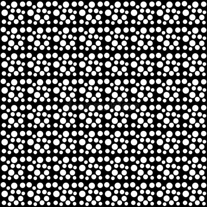 Teste padrão abstrato dos às bolinhas sem emenda do vetor preto e branco Papel de parede abstrato do fundo Ilustração do vetor ilustração stock