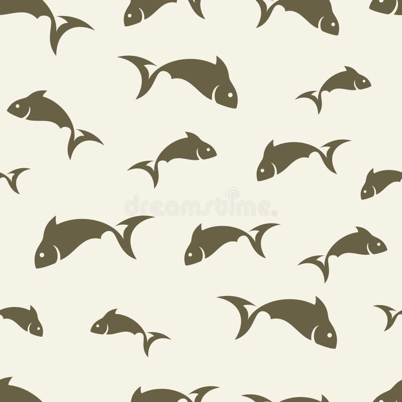 Teste padrão abstrato dos peixes ilustração do vetor