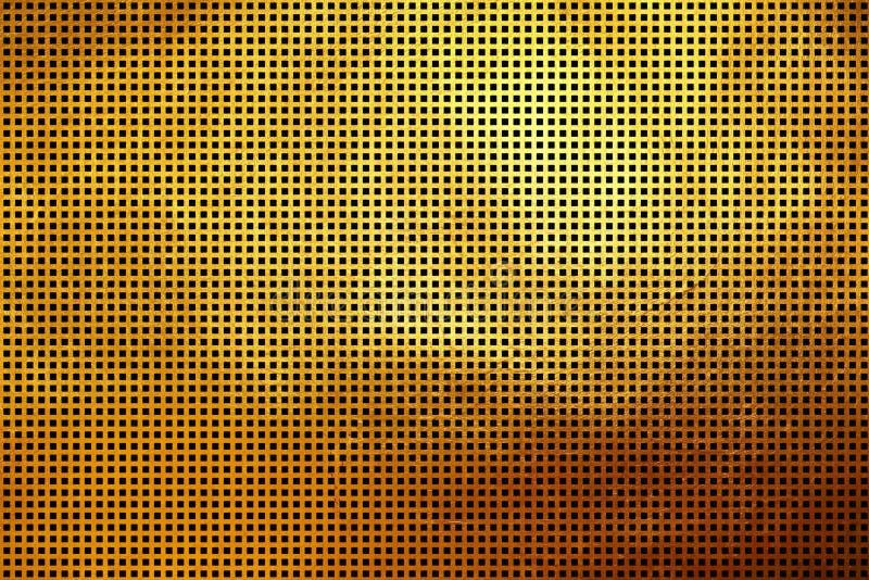 Teste padrão abstrato dourado Shinning da textura do quadrado moderno dinâmico criativo digital original para a cópia e o projeto ilustração royalty free