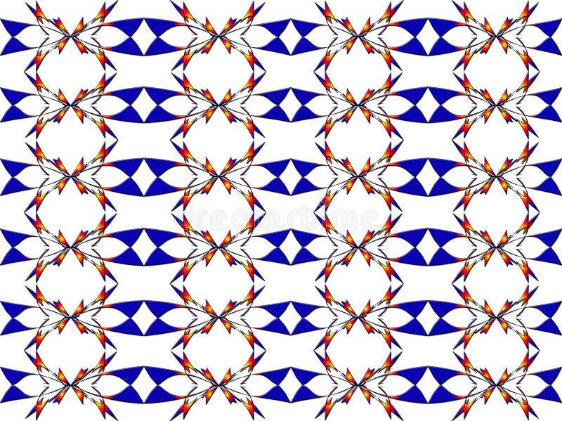 Teste padrão abstrato floral ilustração do vetor