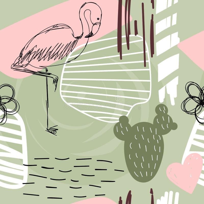 Teste padrão abstrato floral ilustração stock