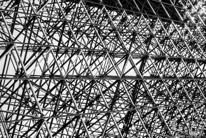 Teste padrão abstrato, fundo arquitetónico de aço imagens de stock royalty free