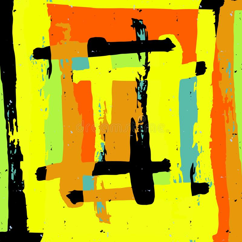 Teste padrão abstrato geométrico da cor no estilo dos grafittis ilustração do vetor da qualidade para seu projeto ilustração do vetor