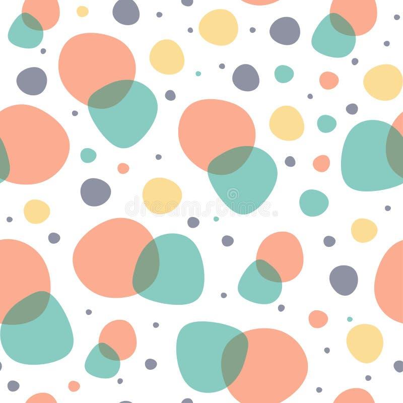 Teste padrão abstrato geométrico do círculo na moda com a ilustração escandinava moderna do vetor do projeto da arte das cores pa ilustração do vetor