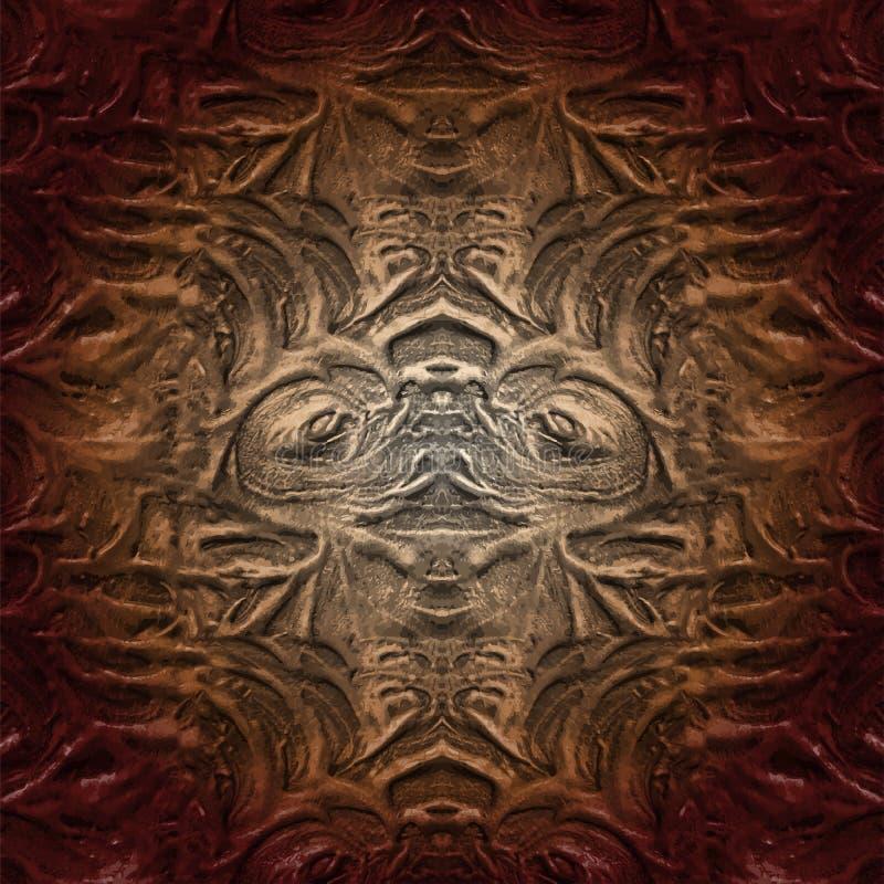 Teste padrão abstrato incomum Colagem criativa na moda Arte finala incomum ilustração stock