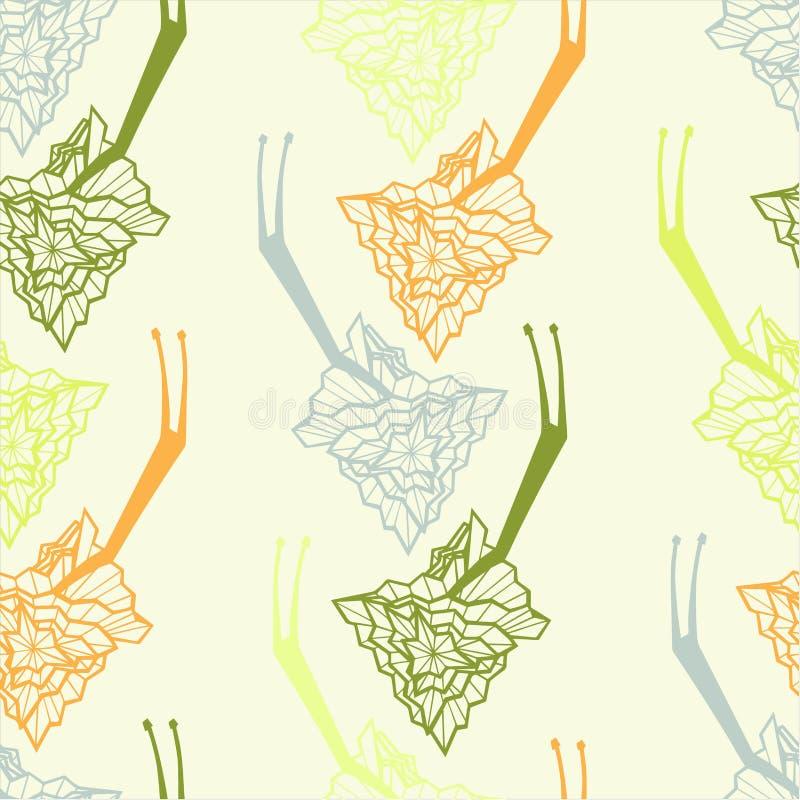 Teste padrão abstrato infinito da decoração com caracol ilustração stock