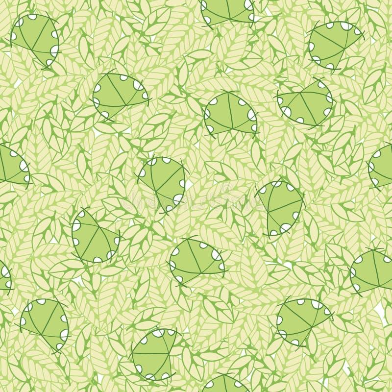 Teste padrão abstrato infinito da decoração com joaninha ilustração royalty free
