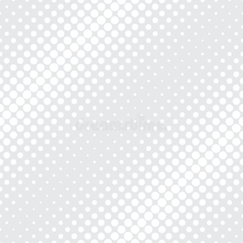 Teste padrão abstrato moderno da geometria do vetor luz - fundo geométrico sem emenda cinzento ilustração royalty free
