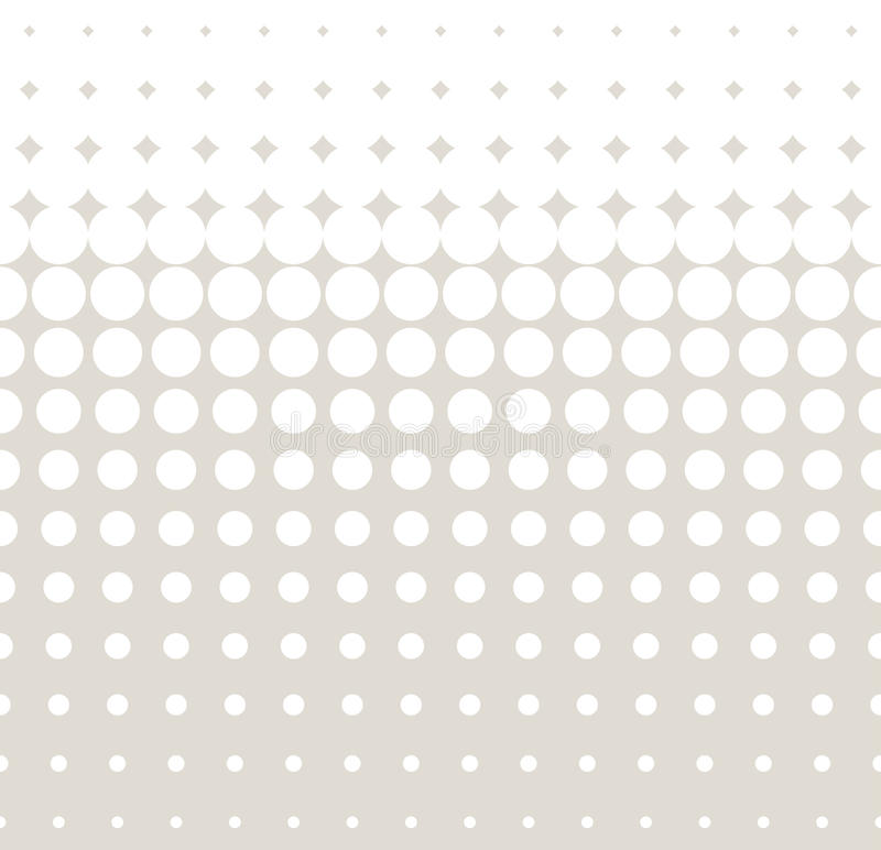 Teste padrão abstrato moderno da geometria do vetor luz - fundo geométrico sem emenda cinzento ilustração stock