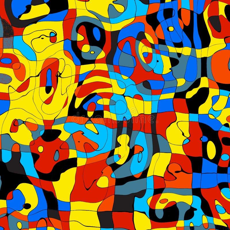 Teste padrão abstrato moderno do projeto do círculo colorido ilustração do vetor