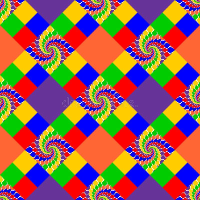 Teste padrão abstrato multicolorido sem emenda do projeto ilustração stock