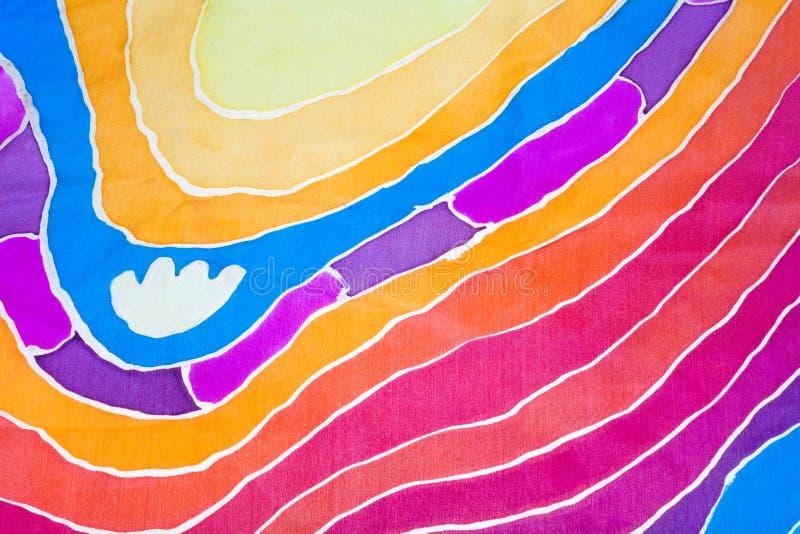 Teste padrão abstrato no batik de seda ilustração royalty free
