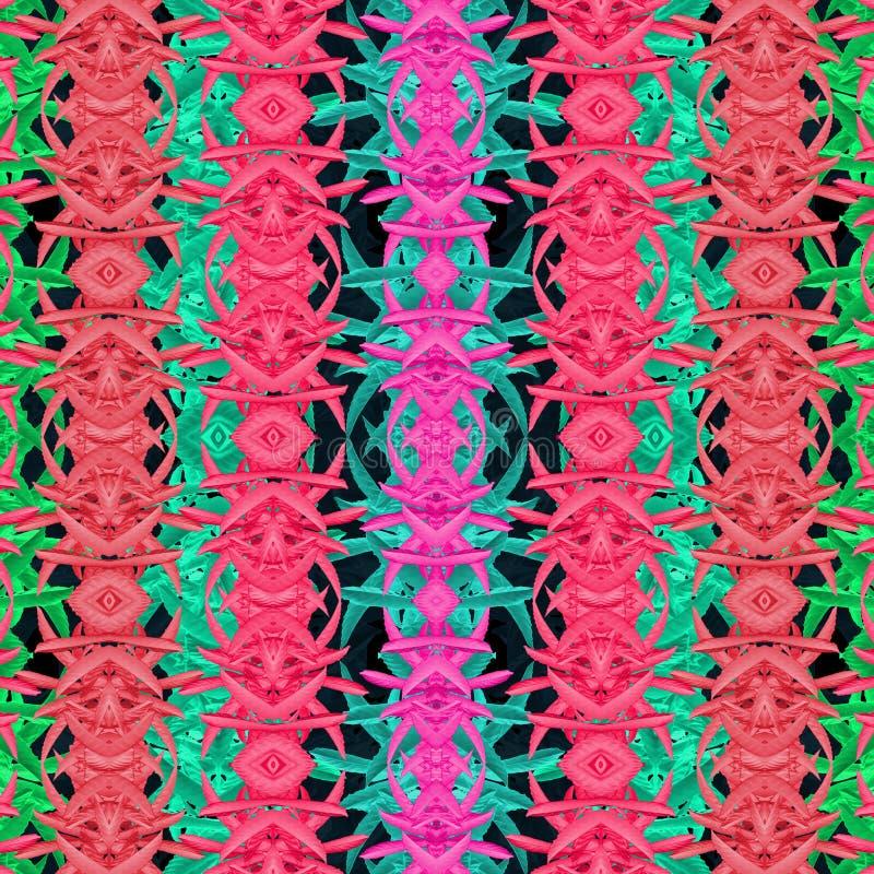 Teste padrão abstrato oriental moderno multicolorido ilustração stock