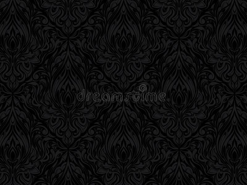 Teste padrão abstrato preto ilustração royalty free