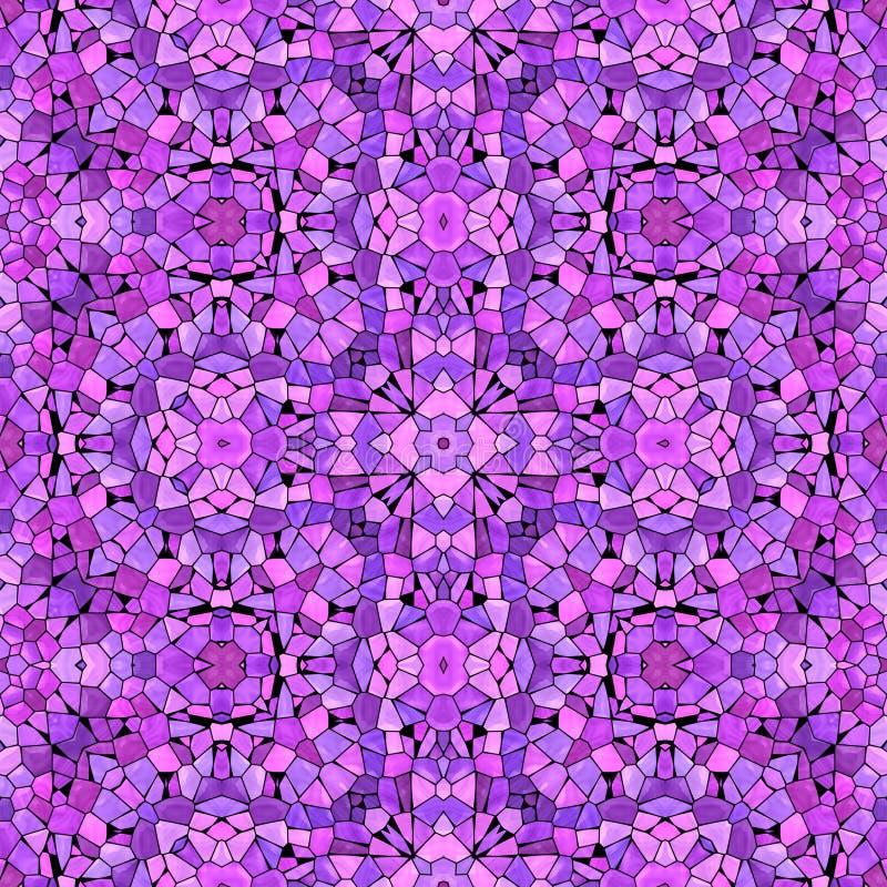 Teste padrão abstrato roxo do caleidoscópio imagens de stock