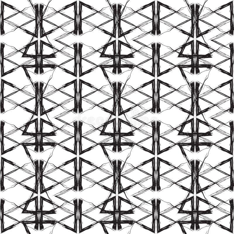 Teste padrão abstrato sem emenda ilustração do vetor