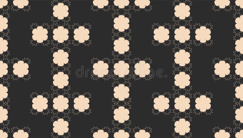 Teste padrão abstrato sem emenda com formas geométricas preto e branco ilustração do vetor