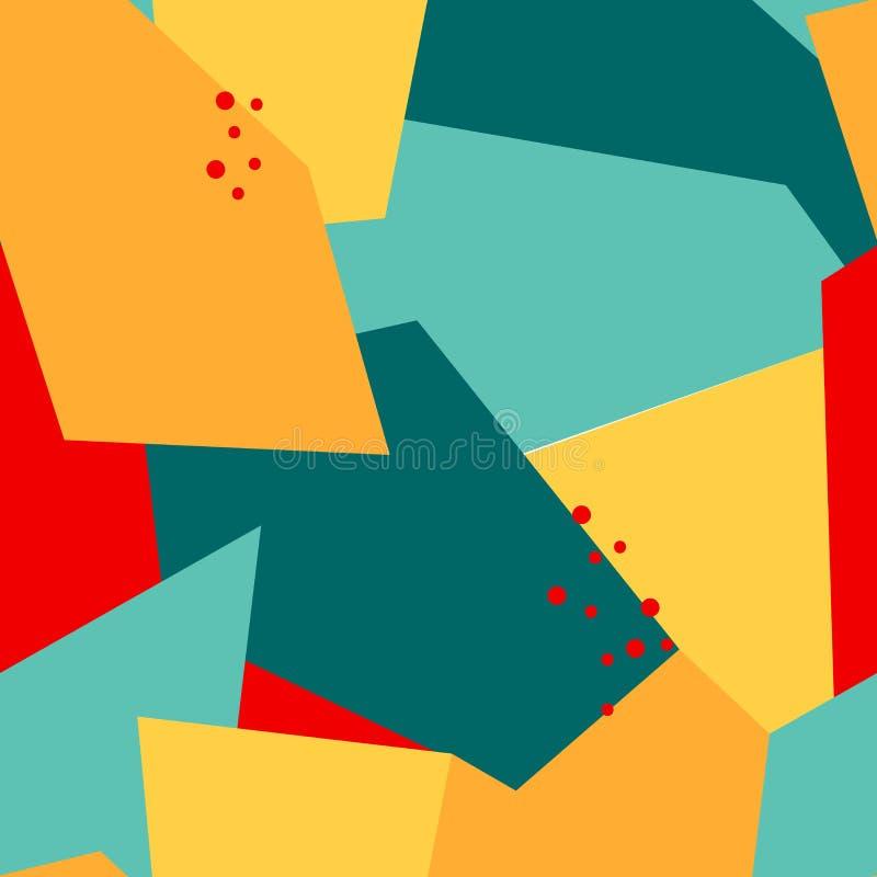 Teste padrão abstrato sem emenda com polígono e pontos ilustração stock