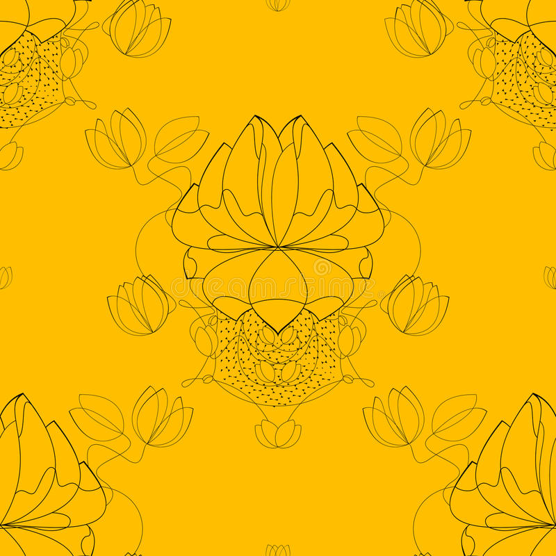 Teste padrão abstrato sem emenda da flor do vetor, papel ilustração do vetor