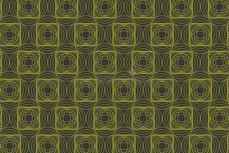 Teste padrão abstrato sem emenda do fundo feito com círculos repetidos ilustração do vetor