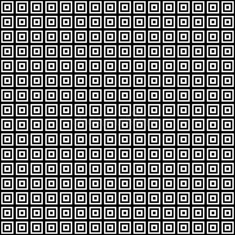 Teste padrão abstrato sem emenda do vetor preto e branco Papel de parede abstrato do fundo ilustração stock