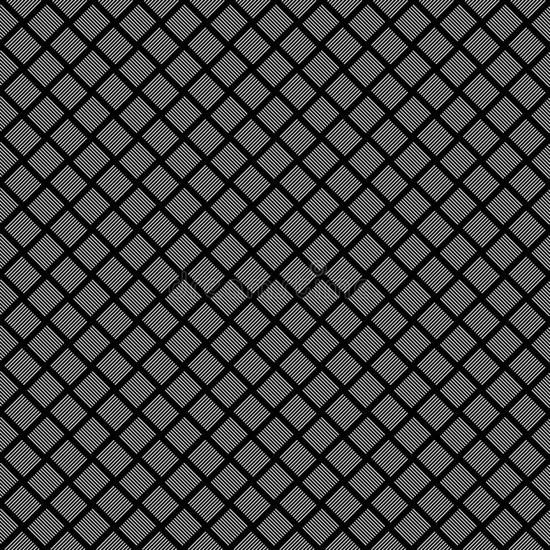 Teste padrão abstrato sem emenda do vetor preto e branco Papel de parede abstrato do fundo Ilustração do vetor ilustração do vetor