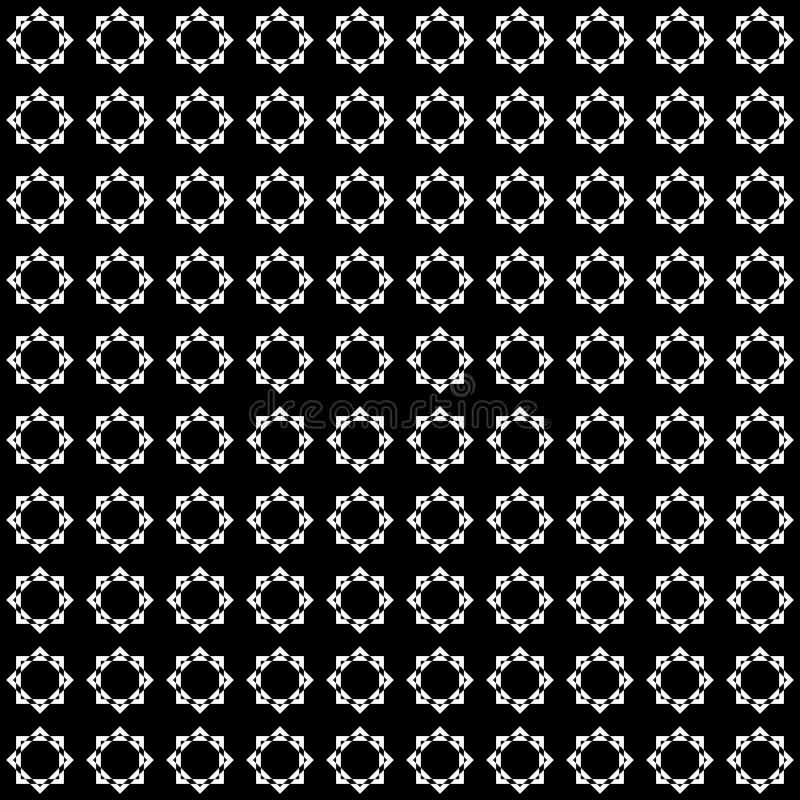 Teste padrão abstrato sem emenda do vetor preto e branco Papel de parede abstrato do fundo Ilustração do vetor ilustração stock