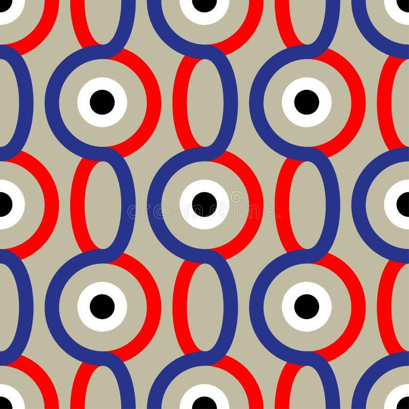 Teste padrão abstrato sem emenda no estilo do soviete do construtivismo Ornamento geométrico do vintage 20s do vetor ilustração do vetor