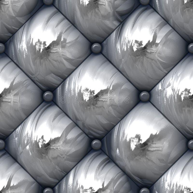 Teste padrão acolchoado brilhante de Upholstery ilustração stock