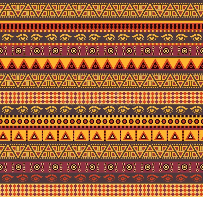 Teste padrão africano ilustração do vetor