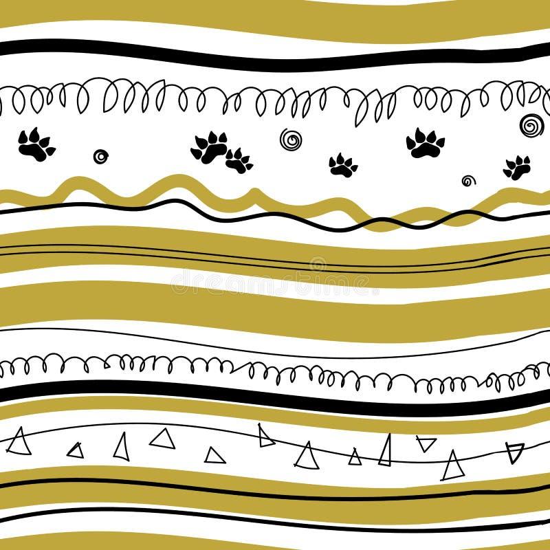 Teste padrão africano bonito ilustração do vetor