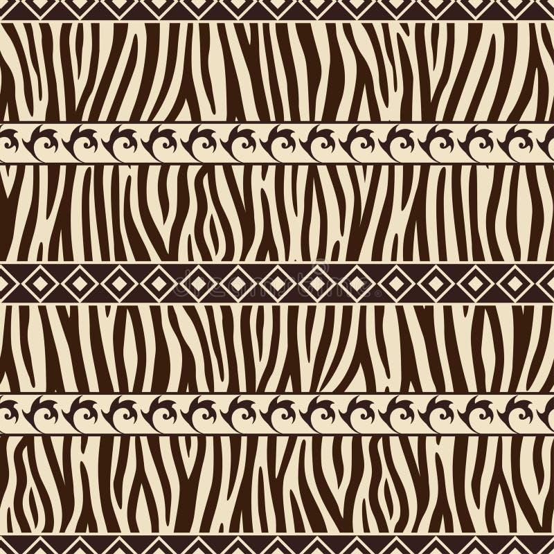 Teste padrão africano do estilo ilustração royalty free