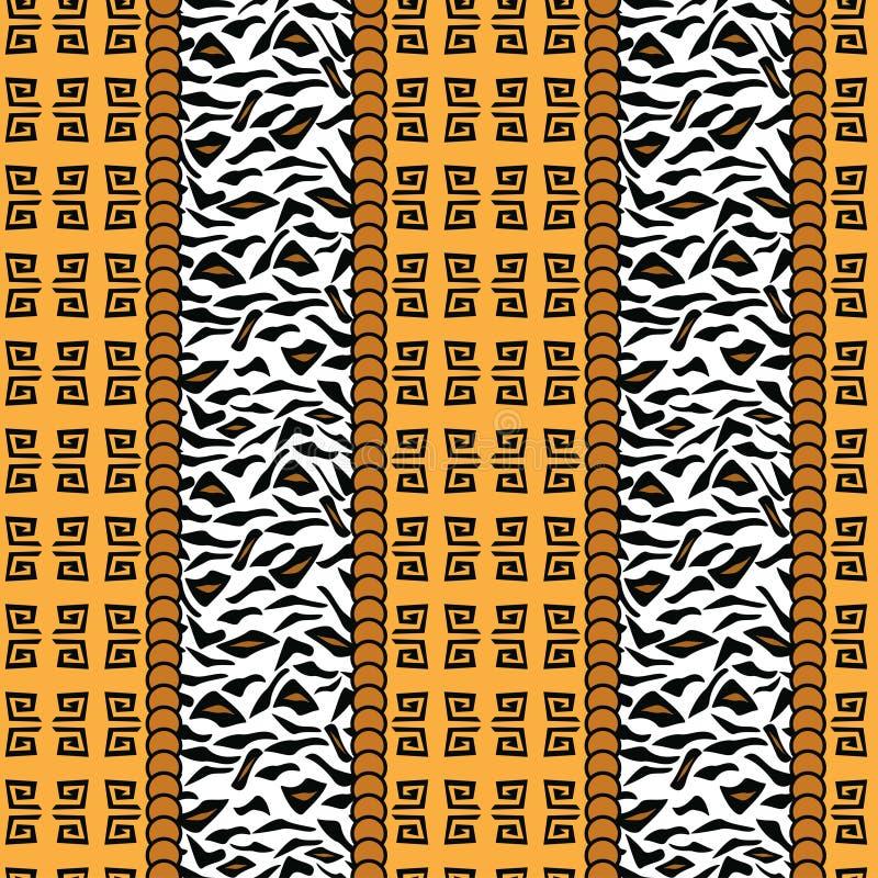 Teste padrão africano do estilo com pele animal ilustração stock