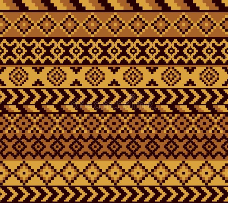 Teste padrão africano do pixel ilustração royalty free