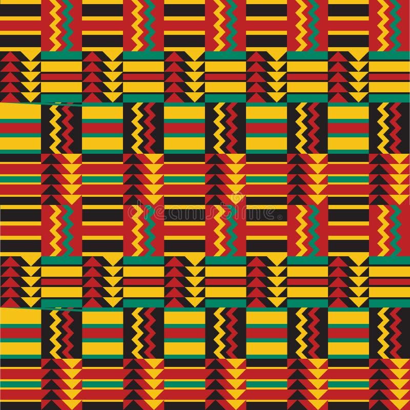 Teste padrão africano sem emenda ilustração do vetor