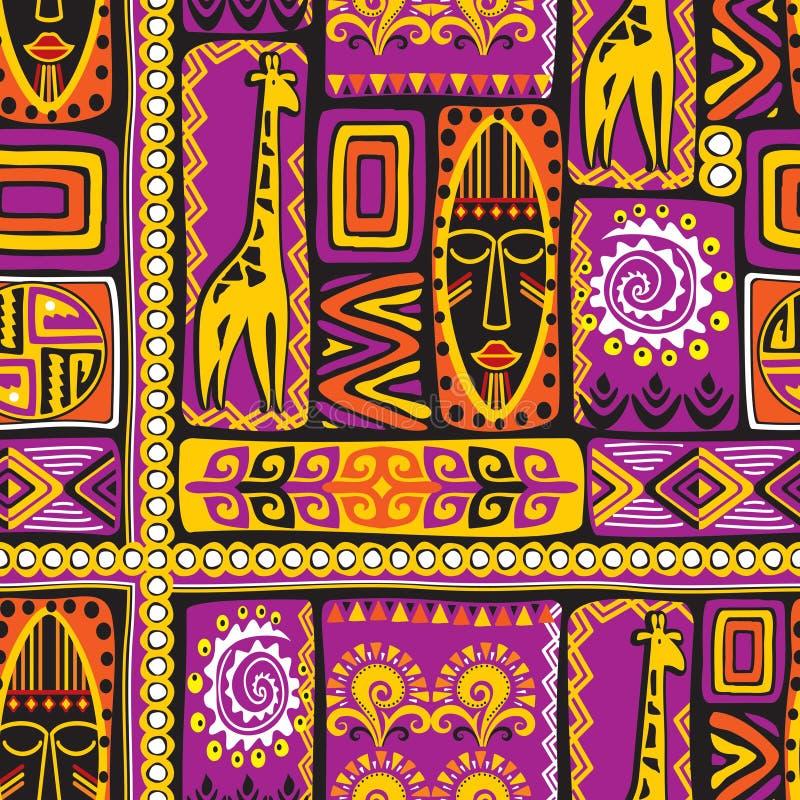 Teste padrão afrikan violeta ilustração stock