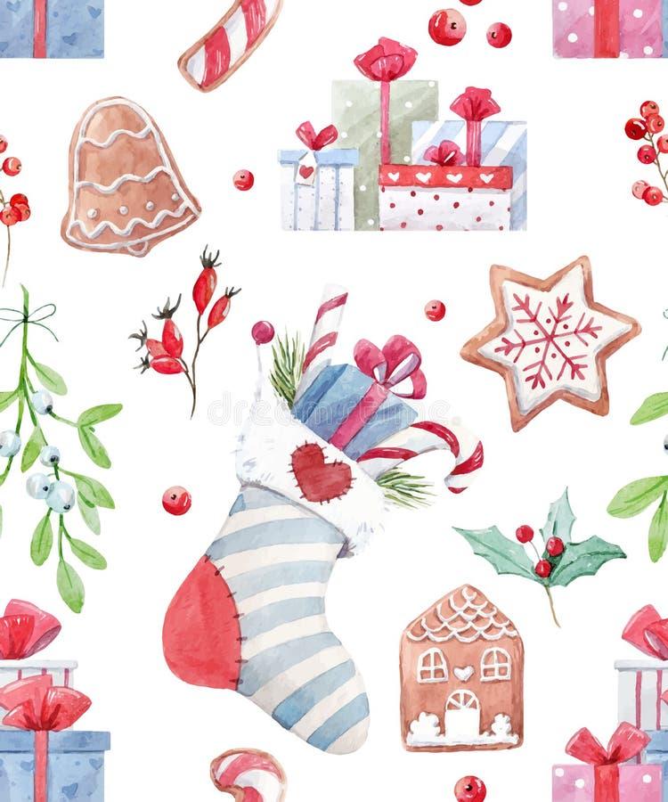 Teste padrão agradável do vetor do Natal ilustração royalty free