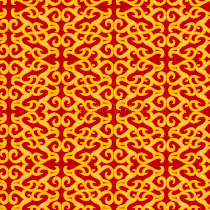 Teste padrão alaranjado sem emenda do ornamento ilustração royalty free