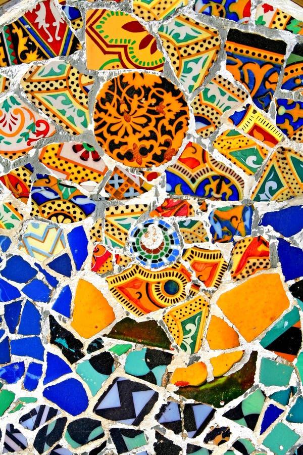 Teste padrão aleatório do mosaico fotos de stock