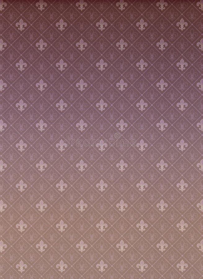 Teste padrão Allover da flor de lis ilustração do vetor