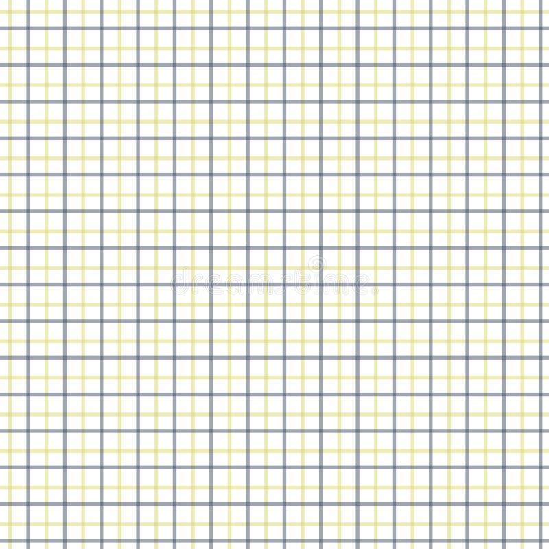 Teste padrão amarelo e preto da verificação de Tattersall Tela de matéria têxtil da forma da camisa dos homens Repetindo o teste  ilustração royalty free
